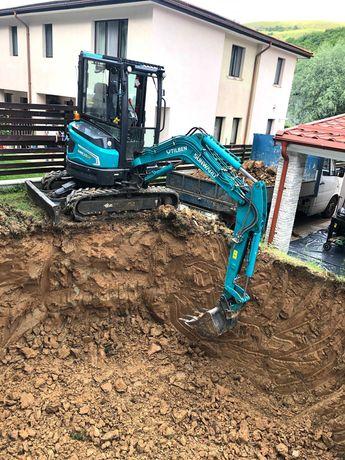 Miniexcavator: Sapaturi, Terasari, Canalizari, Demolari, Piscine