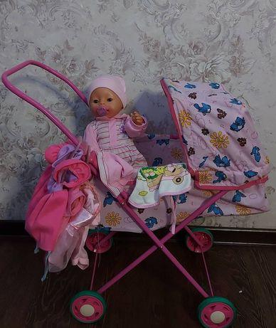 Кукла беби Борн с коляской и нарядами