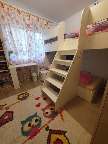 2 paturi suspendate copii 280 cm, demontabil