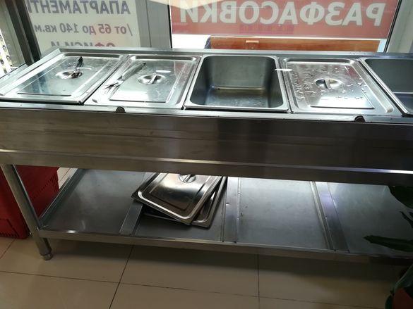 Топла витрина Бен Мари с водна баня-НОВИ