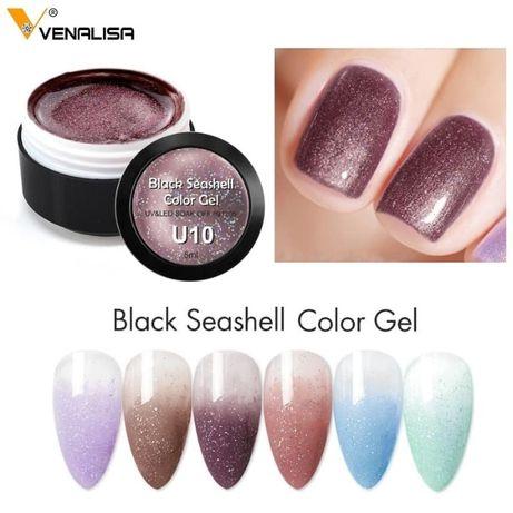 Venalisa Uv&Led Black Seashell gel / гел черна мида