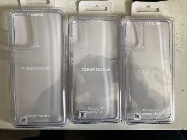 Vand husa originala Clear Cover Samsung Galaxy S20 S20 Plus Ultra