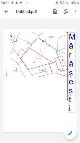 Vand teren central / schimb cu apartament 2/3 camere