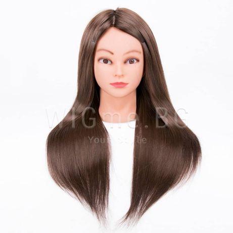 ПРОМО! Тренировъчна глава за прически със стойка-качествена коса YAKI