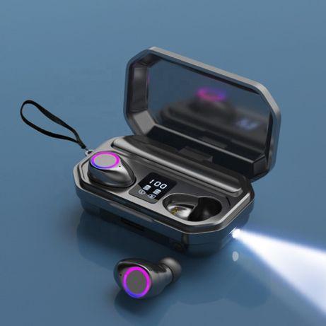 Безжични Слушалки TWS М12 LED за Android и iOS с тъч контрол