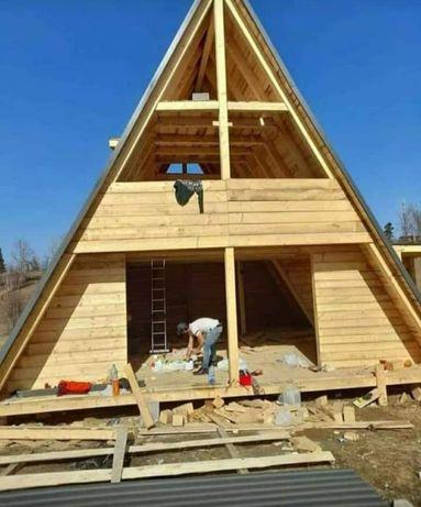 Vand cabane din lemn orce model dorește clientul