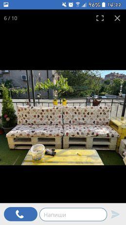 Възглавници за палетни, градински мебели,Покривки, тишлайфери и др