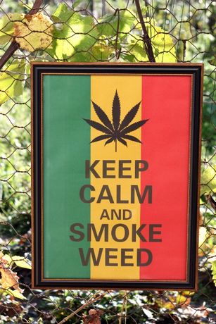 "Tablou / Poster ""Keep Calm And Smoke Weed"" 41 x 57 cm"
