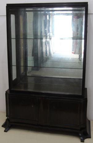 Vitrina Vintage Lemn Masiv; Dulap cu 2 usi laterale; Bufet cu geam