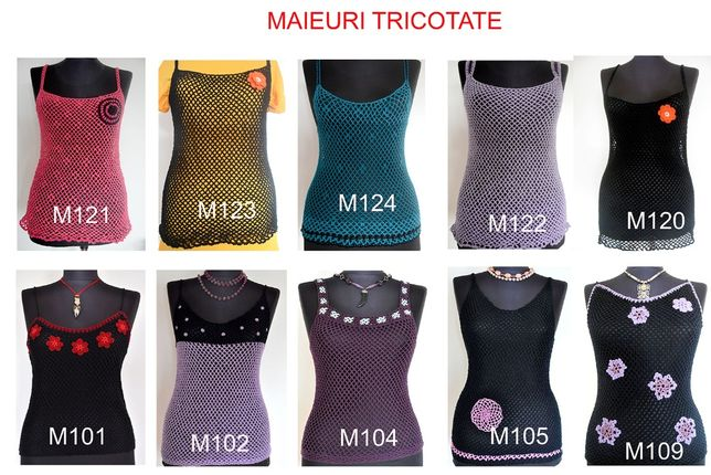 Maieuri tricotate manual tip plasa