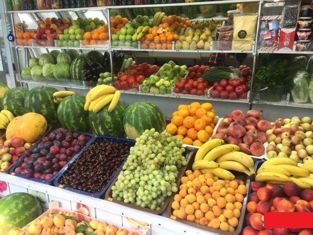Место под овощи в продуктовом магазине