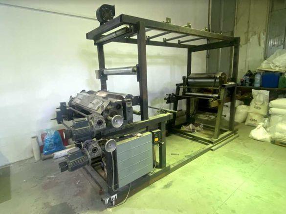 флексопечатаща машина и валове различни размери