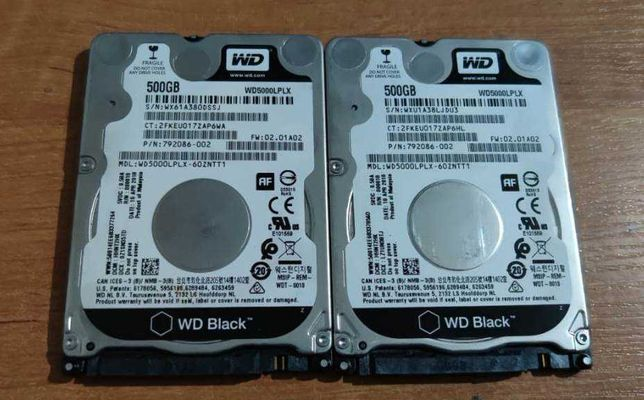 "Жесткие диски для ноутбука 500 Gb WD Black, 2.5"", 64Mb, SATA III, 6 шт"