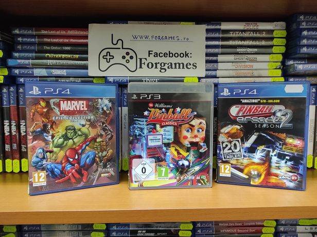 The Pinball Arcade Season 2 Marvel Epic Collection PS4 Williams PS3