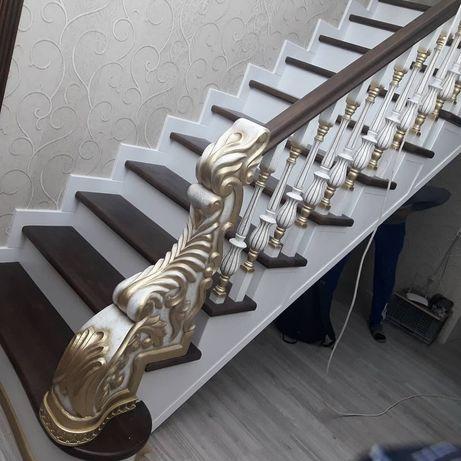 Изготовление и установка деревянных лестниц для дома.