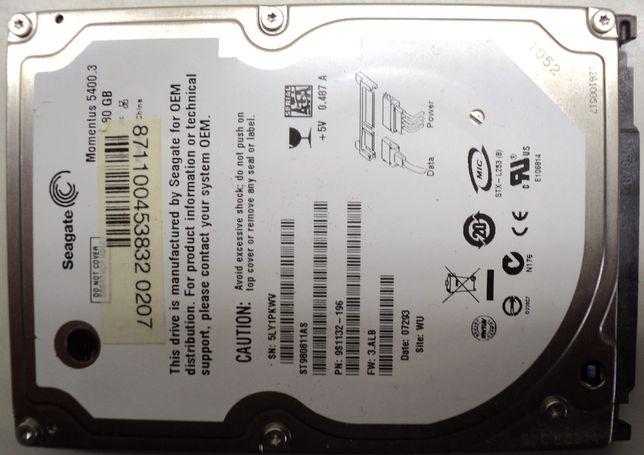 """Hard Disk Sata 2,5"""" HDD-80 Gb Seagate ST980811AS"""