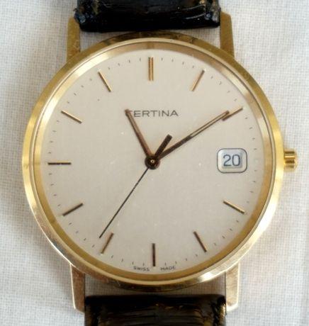 Ceas Certina Quartz aur 18k 750 extraplat exceptional