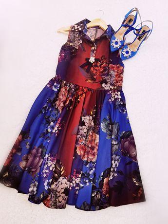 Дамска рокля с флорален мотив