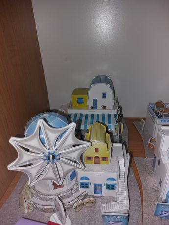 Case stil Grecia jucării tip lego cu accesorii