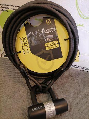 Заключващо устройство за велосипед - 5м. - 10мм - Heavy-Duty U-Lock