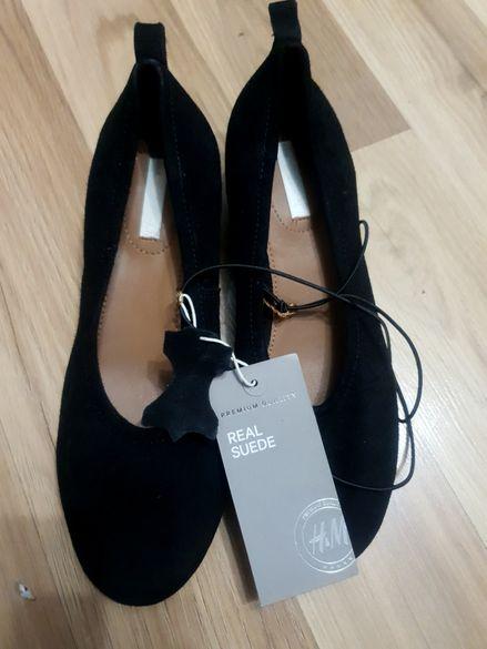 Обувки естествен велур h&m номер 36