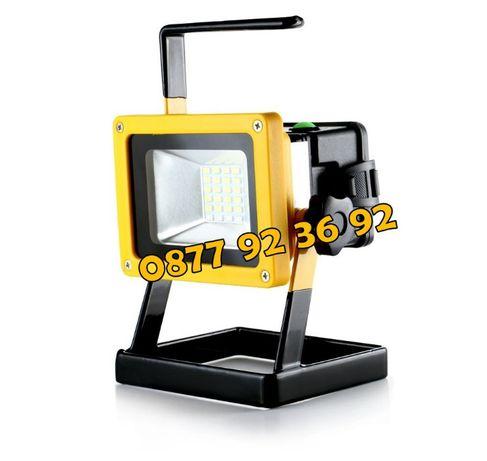 + БАТЕРИИ с 3 режима ЛЕД ПРОЖЕКТОР, LED фенер, аварийна лампа: BL-204
