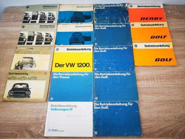 Manuale bord originale vw anii 60-80
