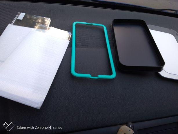2 folii iPhone 6 plus /6s si husa piele
