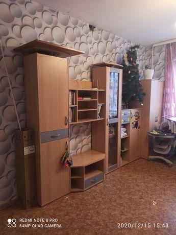 Шкаф Стенка с подсветкой в шкафу )