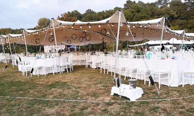 Inchiriere cort nunti petreceri evenimente 20x15 m acoperis stretch