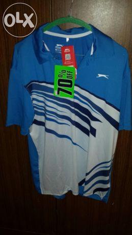 Тениска Slazenger Graded Print Golf Polo Shirt