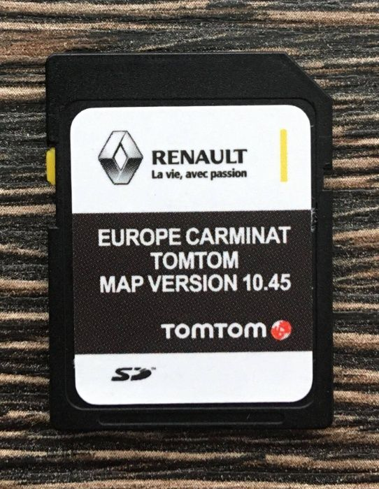 Renault Carminat Tomtom 10.45 SD Card 2020-21г Навигация Рено сд карта