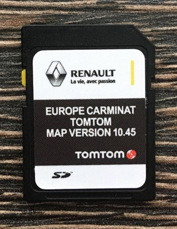 Renault Carminat Tomtom 10.45 SD Card 2020-21г Навигация Рено сд карта