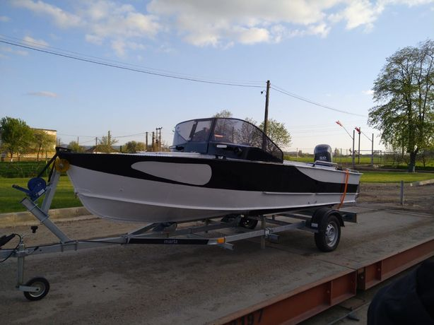 Barca aluminiu Progres 2+motor