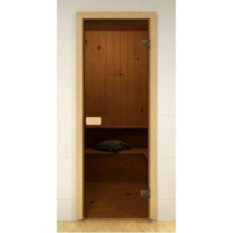 Стеклянные двери для парной (бани), каленное йодовое стекло 8мм