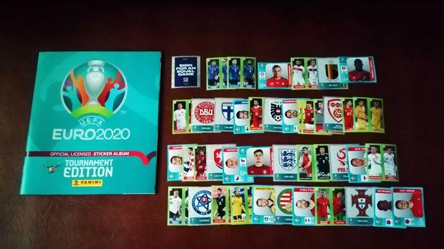 Panini Euro 2020 vers. 654 Romania - album gol + lot 43 stickere