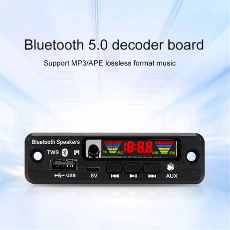 Mp3 player 3,7V/5V Bluetooth 5.0 модул за вграждане Kebidu USB/FM/AUX