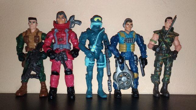 Lanard Figurine Superarticulate Army,Ninja,Scuba Diver(art.2)