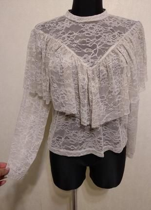 Кружевная блузка кофточка Zara
