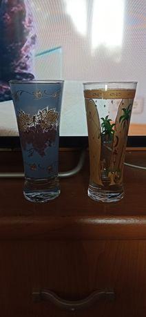 Продаются стаканы, 4 шт жёлтых и 6голубых!