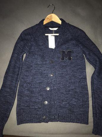 Plover tricotat bleumarin Mango 13-14 ani