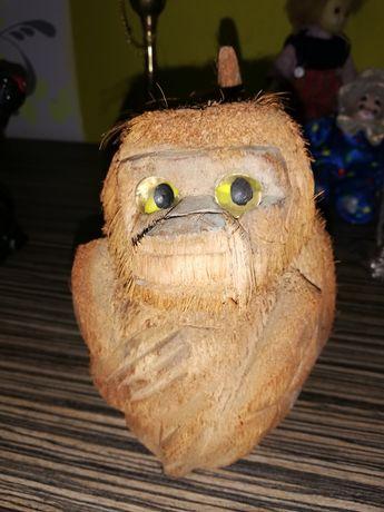 Maimuță vintage din nuca de cocos