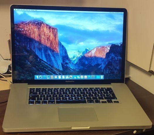 APPLE Macbook Pro 17 inch Mid 2009 MacOS X El Capitan