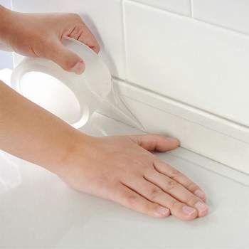 Супер Водоустойчива прозрачна акрилна лента за Баня, мивка, тоалетна,