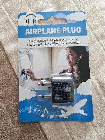 Adaptor casti pentru avion