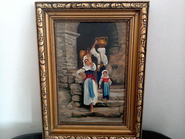Tablou pictură veche U/C - semnat Artachino - 41 x 31 cm cu ramă