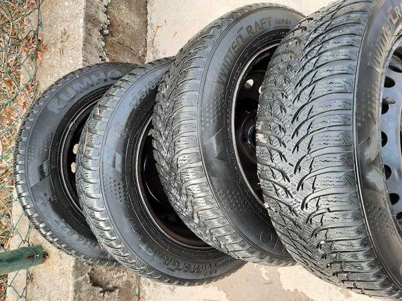 Зимни гуми с джанти за Рено, Renault KUMHO 175/65/R14 82T