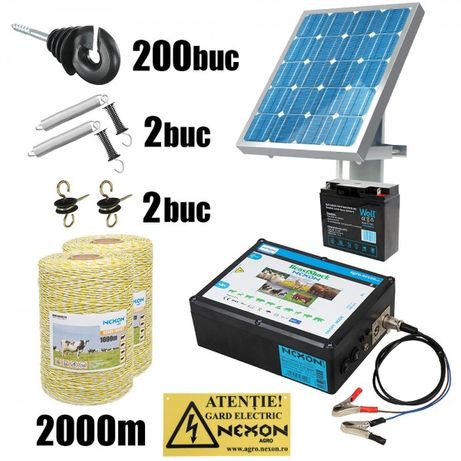 Kit gard electric NEXON BeastShock 8.5J 12V+Solar