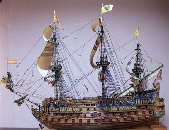 макет на кораб San Felipe-1690 Spanish Armada Galleon Tall Ship