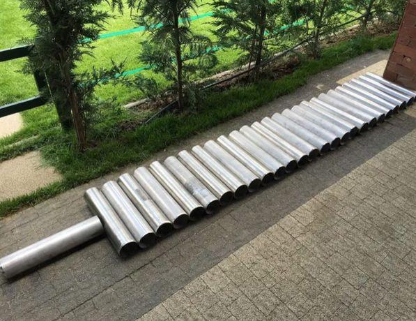 Tub inox, Cablu Gard Electric - Stalp 1 m tratat antiputrezire 10 ani